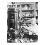 Tienda italiana del café express del vintage de Ne Postales