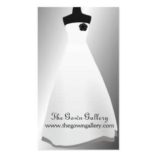 Tienda nupcial del vestido de boda de los vestidos tarjetas de visita