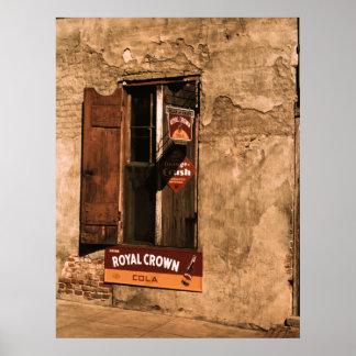 Tienda, pared y ventana de Natchez Poster