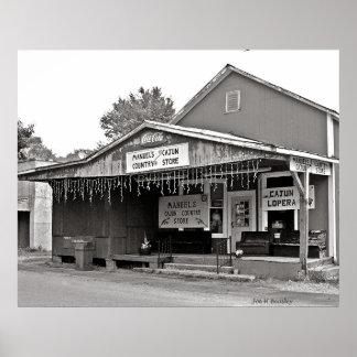Tienda rural de Cajun del manual Póster