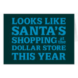 Tienda Santa del dólar Felicitacion
