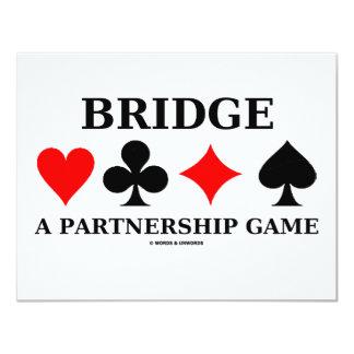 Tienda un puente sobre un juego de la sociedad invitación 10,8 x 13,9 cm