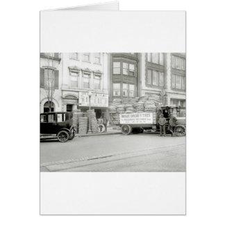 Tienda vieja del neumático, los años 20 felicitaciones