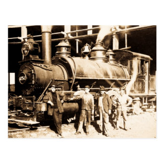 Tienda y equipo magníficos - vintage del ferrocarr tarjeta postal