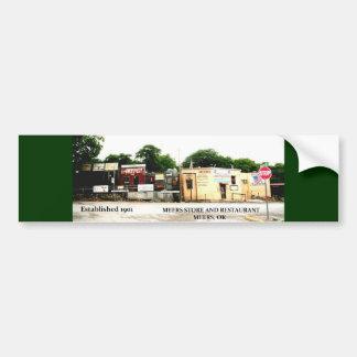 Tienda y restaurante Meers Oklahoma de Meers Pegatina De Parachoque