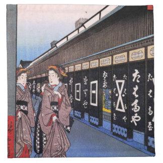 Tiendas con las mercancías del algodón en Ōdenma-c Servilletas Imprimidas