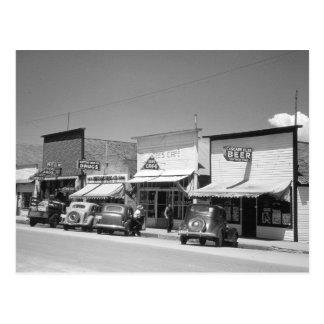 Tiendas de la calle principal, 1941 postal