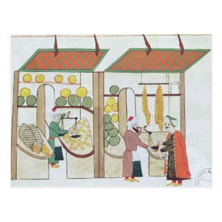 Tiendas de la fruta Ms 1671 dos c 1580 Tarjetas Postales