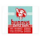 Tiendas de la galleta de Bunnys Tarjetas Postales