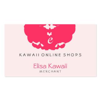 Tiendas de la mancha blanca /negra de E Kawaii Tarjetas De Visita