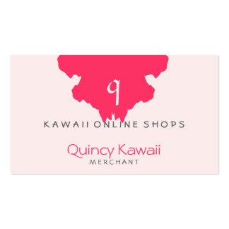 Tiendas de la mancha blanca /negra de Q Kawaii Tarjetas De Visita