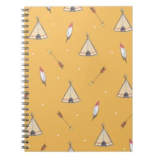 Tiendas de los indios norteamericanos minúsculas spiral notebook