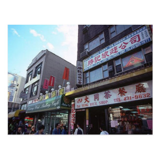 Tiendas del Canal Street de New York City Chinatow Tarjeta Postal