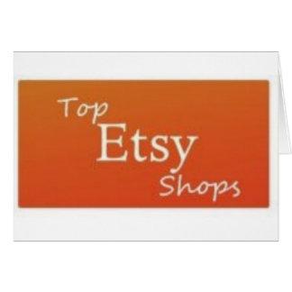 Tiendas superiores de Etsy Tarjeta De Felicitación
