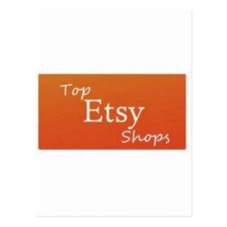 Tiendas superiores de Etsy Tarjeta Postal