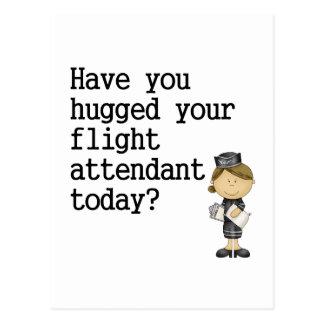 Tiene usted abrazado su asistente de vuelo tarjeta postal