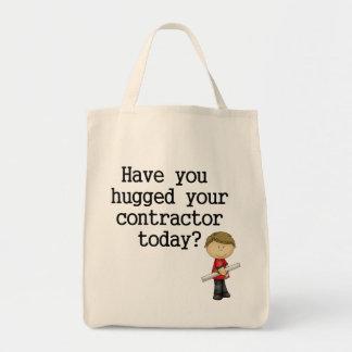 Tiene usted abrazado su contratista bolsa tela para la compra