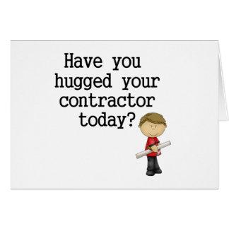 Tiene usted abrazado su contratista tarjetas
