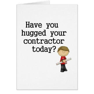 Tiene usted abrazado su contratista tarjeton