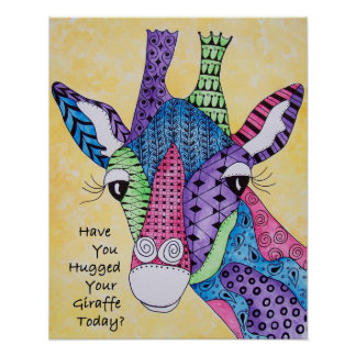 Tiene usted abrazado su poster de la jirafa hoy