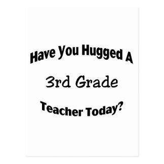 Tiene usted abrazado un 3ro profesor del grado hoy postales