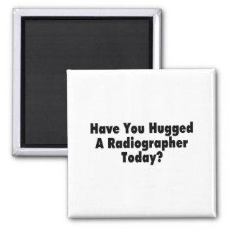 Tiene usted abrazado un ayudante radiólogo hoy imán cuadrado