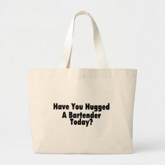 Tiene usted abrazado un camarero hoy bolsa tela grande