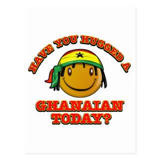 Tiene usted abrazado un ghanés hoy postales