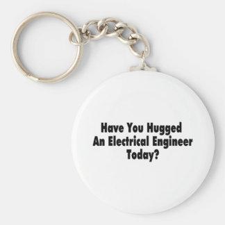 Tiene usted abrazado un ingeniero eléctrico hoy llavero redondo tipo pin