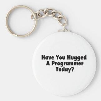 Tiene usted abrazado un programador hoy llavero redondo tipo pin