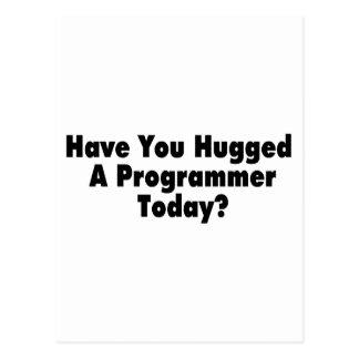 Tiene usted abrazado un programador hoy postales