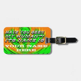 Tiene usted etiqueta vista del equipaje etiquetas bolsas