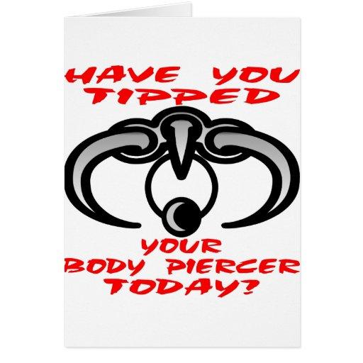 Tiene usted inclinado su taladrador del cuerpo hoy tarjeta