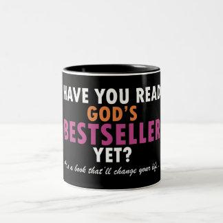 Tiene usted leer el bestseller de dios todavía taza de café