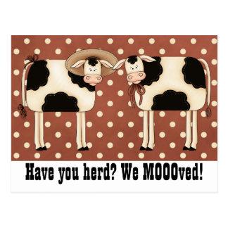 ¿Tiene usted reunir? ¡Nosotros Moooved! Pares lind Tarjetas Postales
