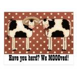 ¿Tiene usted reunir? ¡Nosotros Moooved! Pares Tarjeta Postal