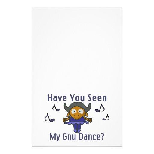 Tiene usted visto mi Gnu bailar Papeleria De Diseño