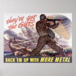 Tienen la tripa: apóyelos con más metal poster