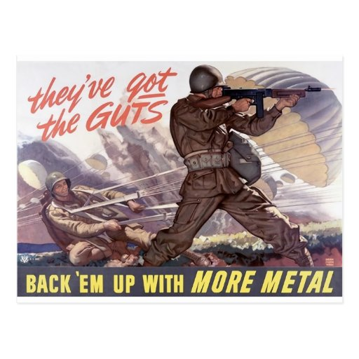 Tienen la tripa: apóyelos con más metal tarjeta postal