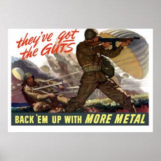 Tienen la tripa -- WW2 Póster