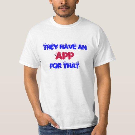Tienen un app para eso camisas