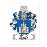 Tiepolo Family Crest Postcard