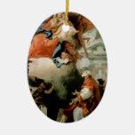 Tiepolo-Virgen de Juan que aparece a St Philip Ornamento De Navidad