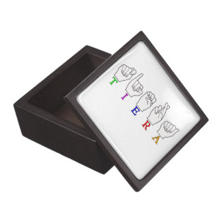 TIERA  ASL FINGERSPELLED NAME SIGN KEEPSAKE BOX