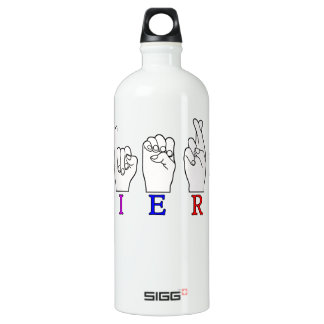 TIERA  ASL FINGERSPELLED NAME SIGN WATER BOTTLE