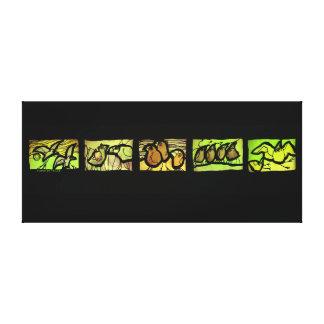 Tierce en Taille Vert Canvas Print