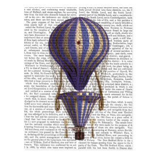 Tiered Hot Air Balloon Blue Postcard