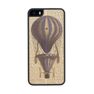 Tiered Hot Air Balloon Blue Wood Phone Case For iPhone SE/5/5s