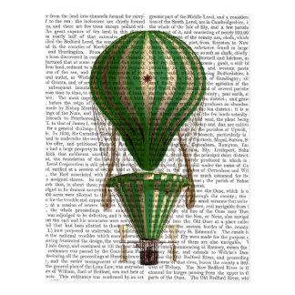 Tiered Hot Air Balloon Green Postcard