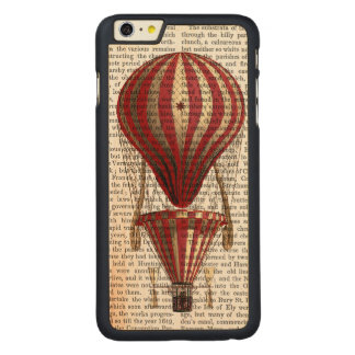 Tiered Hot Air Balloon Print Red Carved Maple iPhone 6 Plus Slim Case